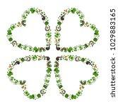 green clover leaves in the...   Shutterstock .eps vector #1029883165