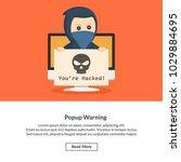 popup warning job information | Shutterstock .eps vector #1029884695