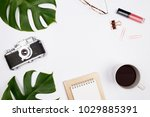 frame made of tropical palm...   Shutterstock . vector #1029885391
