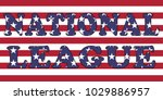 national league words on usa...   Shutterstock .eps vector #1029886957