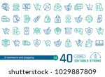 outline icon collection of e... | Shutterstock .eps vector #1029887809