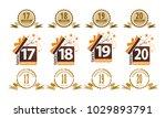 ribbon anniversary template set | Shutterstock .eps vector #1029893791
