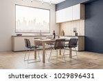 modern kitchen interior with... | Shutterstock . vector #1029896431