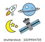 astronomy object cartoon design ...   Shutterstock .eps vector #1029904705