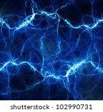 blue fantasy lightning | Shutterstock . vector #102990731