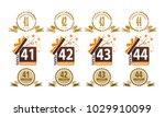 ribbon anniversary template set | Shutterstock .eps vector #1029910099
