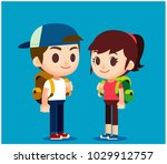 vector set of male and female... | Shutterstock .eps vector #1029912757