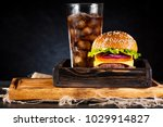 burger cheeseburger with cutlet ... | Shutterstock . vector #1029914827