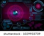 hud gui radar monitor screen.... | Shutterstock .eps vector #1029933739