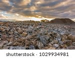 quarry aggregate with heavy... | Shutterstock . vector #1029934981