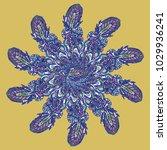 new symmetrical mandala in...   Shutterstock .eps vector #1029936241