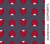 strawberry seamless pattern.... | Shutterstock .eps vector #1029938971