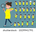 flat type pregnant women_2 | Shutterstock .eps vector #1029941791