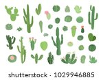 set of hand drawn different... | Shutterstock . vector #1029946885