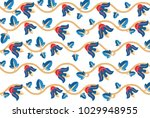 colorful floral pattern | Shutterstock .eps vector #1029948955