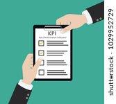 kpi key performance indicator...   Shutterstock .eps vector #1029952729