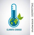 climate change earth inside... | Shutterstock .eps vector #1029957361