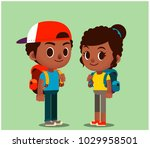 vector set of male and female... | Shutterstock .eps vector #1029958501