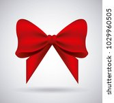 red bow ribbon tied decoration... | Shutterstock .eps vector #1029960505