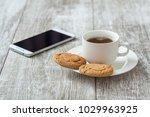 coffee break. coffee with snack   Shutterstock . vector #1029963925