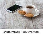 coffee break. coffee with snack   Shutterstock . vector #1029964081