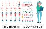 stylish female student... | Shutterstock .eps vector #1029969505