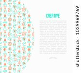 creative concept with thin line ... | Shutterstock .eps vector #1029969769