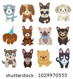 dogs and puppies collection ... | Shutterstock .eps vector #1029970555