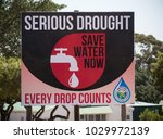 a billboard depicting the... | Shutterstock . vector #1029972139