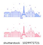 paris skyline  france. this... | Shutterstock .eps vector #1029972721