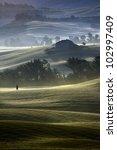 Typical Tuscany Landscape  Italy