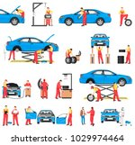 car repair service with... | Shutterstock .eps vector #1029974464