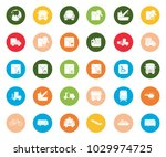 transport icons set | Shutterstock .eps vector #1029974725