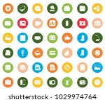 multimedia icons set   Shutterstock .eps vector #1029974764