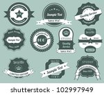 retro labels vector design... | Shutterstock .eps vector #102997949