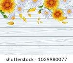 vintage spring floral...   Shutterstock .eps vector #1029980077