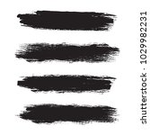 set of grunge brush strokes.... | Shutterstock .eps vector #1029982231