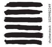 set of grunge brush strokes.... | Shutterstock .eps vector #1029982249