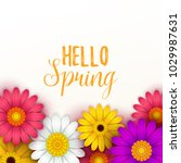 colorful spring background with ... | Shutterstock .eps vector #1029987631