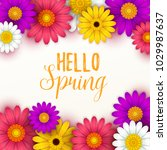 colorful spring background with ... | Shutterstock .eps vector #1029987637