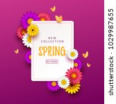 colorful spring background with ... | Shutterstock .eps vector #1029987655