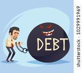 funny cartoon character. sad... | Shutterstock .eps vector #1029991969