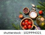 food cooking ingredients on... | Shutterstock . vector #1029994321