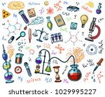 chemistry of icons set.... | Shutterstock .eps vector #1029995227