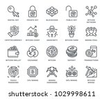 cryptocurrency icon set ... | Shutterstock .eps vector #1029998611