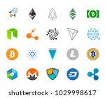 cryptocurrency logo collection | Shutterstock .eps vector #1029998617