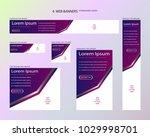 six web banners standard sizes... | Shutterstock .eps vector #1029998701
