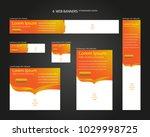 six web banners standard sizes... | Shutterstock .eps vector #1029998725