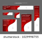 six web banners standard sizes...   Shutterstock .eps vector #1029998755