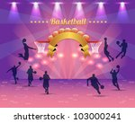 abstract background basketball... | Shutterstock .eps vector #103000241